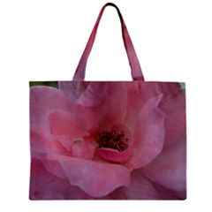 Pink Rose Zipper Tiny Tote Bags
