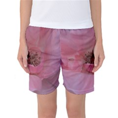 Pink Rose Women s Basketball Shorts