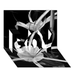 Exotic Black And White Flowers Boy 3d Greeting Card (7x5) by timelessartoncanvas