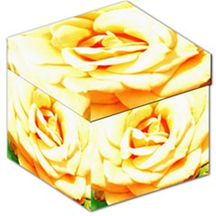 Orange Yellow Rose Storage Stool 12   by timelessartoncanvas