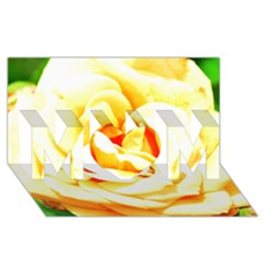 Orange Yellow Rose Mom 3d Greeting Card (8x4)  by timelessartoncanvas