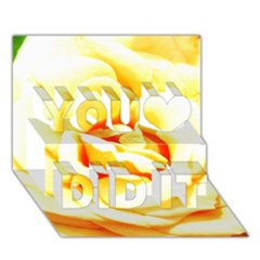 Orange Yellow Rose You Did It 3d Greeting Card (7x5) by timelessartoncanvas
