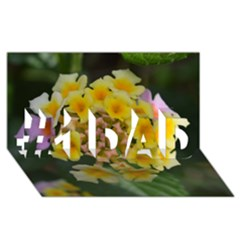 Colorful Flowers #1 Dad 3d Greeting Card (8x4)