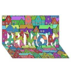 House 001 #1 Mom 3d Greeting Cards (8x4)