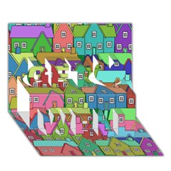 House 001 Get Well 3d Greeting Card (7x5)  by JAMFoto