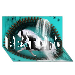 Beautiful Horse With Water Splash  Best Bro 3d Greeting Card (8x4)