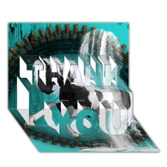 Beautiful Horse With Water Splash  Thank You 3d Greeting Card (7x5)