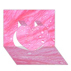 Pink Heart 3d Greeting Card (7x5)