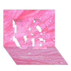 Pink Love 3d Greeting Card (7x5)