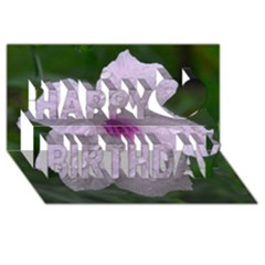 Pink Purple Flowers Happy Birthday 3d Greeting Card (8x4)  by timelessartoncanvas