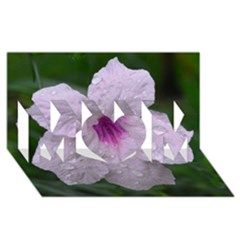 Pink Purple Flowers Mom 3d Greeting Card (8x4)  by timelessartoncanvas