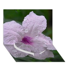 Pink Purple Flowers Heart Bottom 3d Greeting Card (7x5)  by timelessartoncanvas