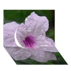 Pink Purple Flowers Circle 3d Greeting Card (7x5)
