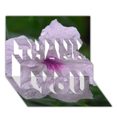 Pink Purple Flowers Thank You 3d Greeting Card (7x5)