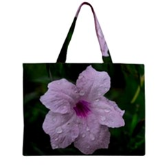 Pink Purple Flowers Zipper Tiny Tote Bags by timelessartoncanvas