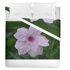 Pink Purple Flowers Duvet Cover (full/queen Size) by timelessartoncanvas