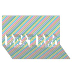 Stripes 2015 0401 Best Bro 3d Greeting Card (8x4)  by JAMFoto