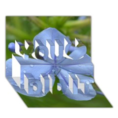 Blue Water Droplets You Did It 3d Greeting Card (7x5)