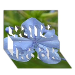 Blue Water Droplets You Rock 3d Greeting Card (7x5)  by timelessartoncanvas