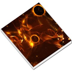 Fire And Flames In The Universe Small Memo Pads by FantasyWorld7