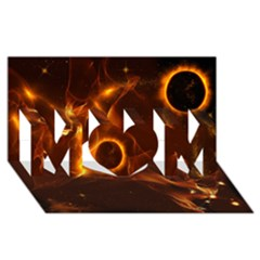 Fire And Flames In The Universe Mom 3d Greeting Card (8x4)