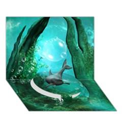 Wonderful Dolphin Circle Bottom 3d Greeting Card (7x5)  by FantasyWorld7