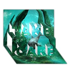 Wonderful Dolphin Take Care 3d Greeting Card (7x5)  by FantasyWorld7