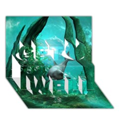 Wonderful Dolphin Get Well 3d Greeting Card (7x5)