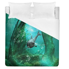 Wonderful Dolphin Duvet Cover Single Side (full/queen Size) by FantasyWorld7