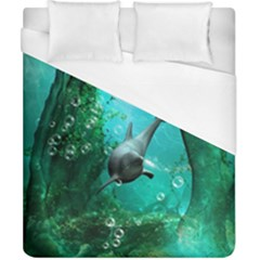 Wonderful Dolphin Duvet Cover Single Side (double Size) by FantasyWorld7