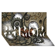 Steampunk With Heart #1 Mom 3d Greeting Cards (8x4)