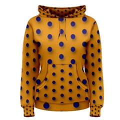 Florescent Orange Black Polka Dot  Women s Pullover Hoodies by OCDesignss
