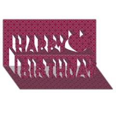 Cute Pattern Gifts Happy Birthday 3d Greeting Card (8x4)  by creativemom