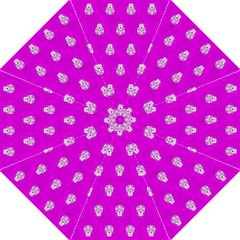 Skull Pattern Hot Pink Straight Umbrellas by MoreColorsinLife