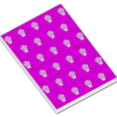 Skull Pattern Hot Pink Large Memo Pads