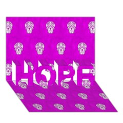 Skull Pattern Hot Pink Hope 3d Greeting Card (7x5)  by MoreColorsinLife
