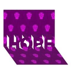 Skull Pattern Purple Hope 3d Greeting Card (7x5)