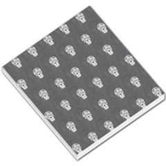 Skull Pattern Silver Small Memo Pads