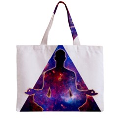 Deep Meditation Zipper Tiny Tote Bags by Lab80