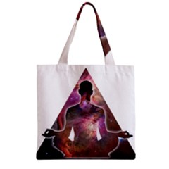 Deep Meditation #2 Zipper Grocery Tote Bags by Lab80