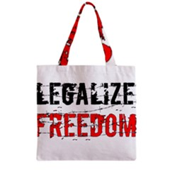 Legalize Freedom Grocery Tote Bags by Lab80