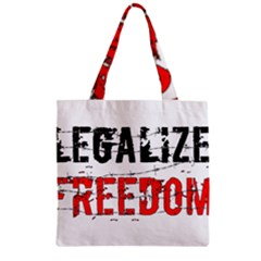 Legalize Freedom Zipper Grocery Tote Bags by Lab80