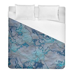 Marbled Lava Blue Duvet Cover Single Side (twin Size) by MoreColorsinLife