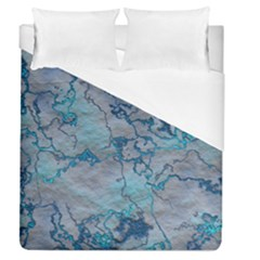 Marbled Lava Blue Duvet Cover Single Side (full/queen Size)
