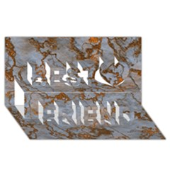 Marbled Lava Orange Best Friends 3d Greeting Card (8x4)
