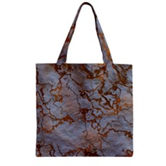 Marbled Lava Orange Zipper Grocery Tote Bags by MoreColorsinLife