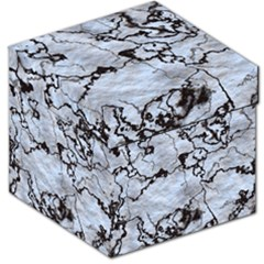 Marbled Lava White Black Storage Stool 12   by MoreColorsinLife