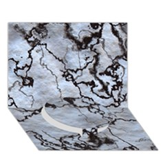 Marbled Lava White Black Circle Bottom 3d Greeting Card (7x5)