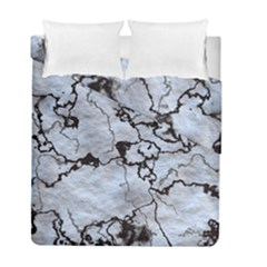 Marbled Lava White Black Duvet Cover (Twin Size) by MoreColorsinLife