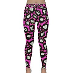 Pink Cheetah Abstract  Yoga Leggings by OCDesignss